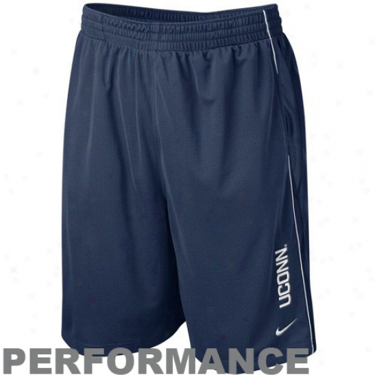 Nike Connecticut Huskies (uconn) Navy Blue Million Dollar Mesh Performance Shorts