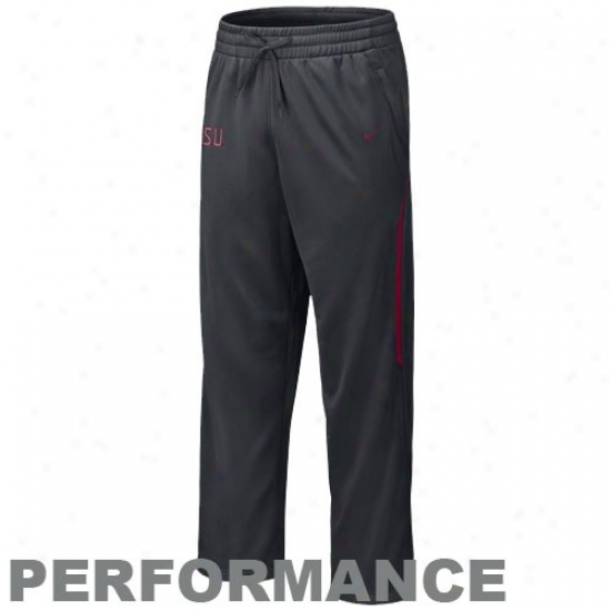 Nike Florida State Seminoles (fsu) Charcoal Training Action Warm-up Pants