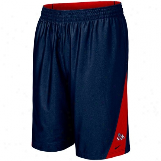 Nike Fresno State Bulldogs Navy Blue-red Reversible Basketball Shorts