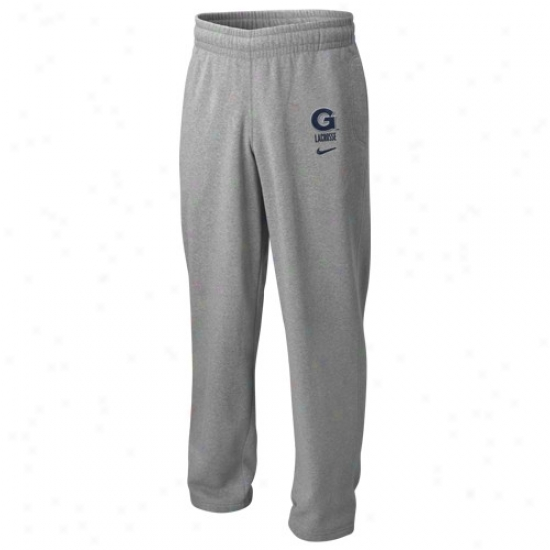 Nike Georgetown Hoyas Ash Lacrossw Fleece Pants