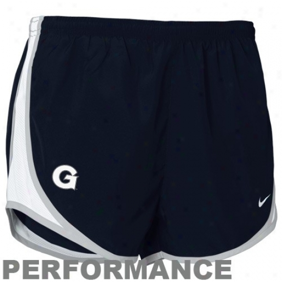 Nie Georgetown Hoyas Ladiez Navy Blue Nikefit Tempo Performance Instruction Shorts