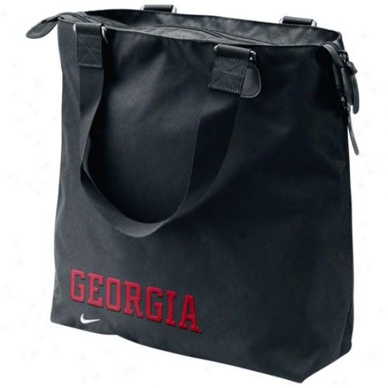 Nike Georgia Bulldogs Black Ckre Tote Bag