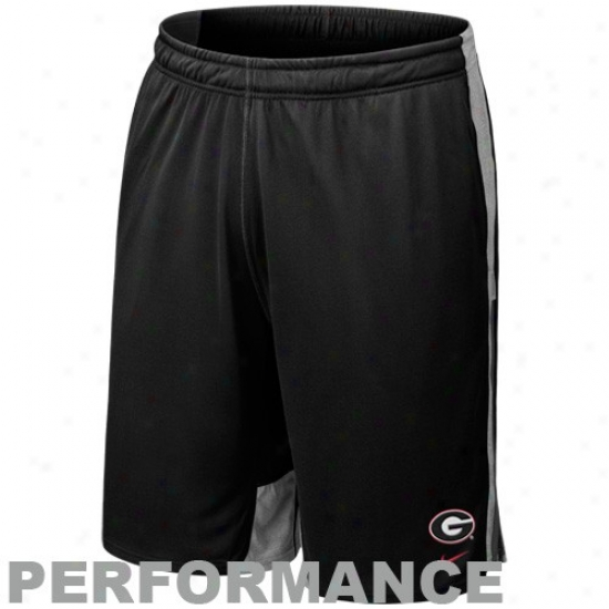 Nike Georgia Bulldogs Black Zomo Fly Training Performance Shorts
