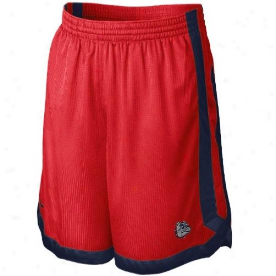 Nike Gonzaga Bulldogz Red-navy Blue D-up Mesu Shorts