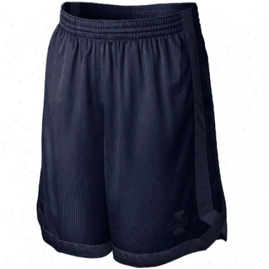 Nike Illinois Fighting Illini Navy Blue D-up Mesh Shorts