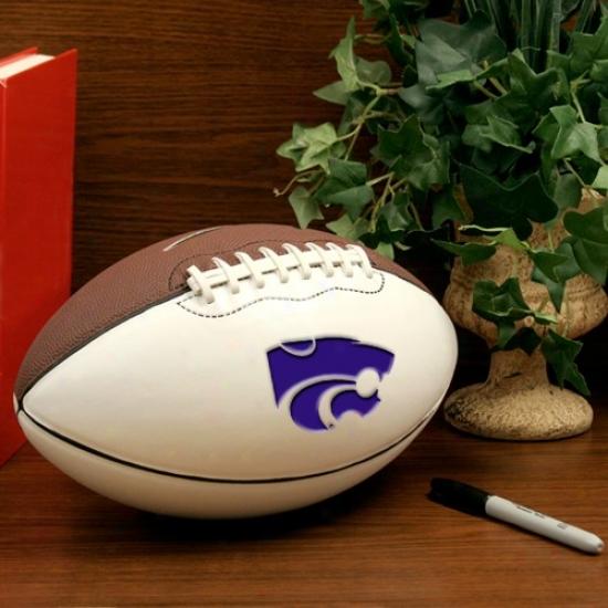 Nike Kansas State Wildcats 12'' Official Ncaa Autograph Football