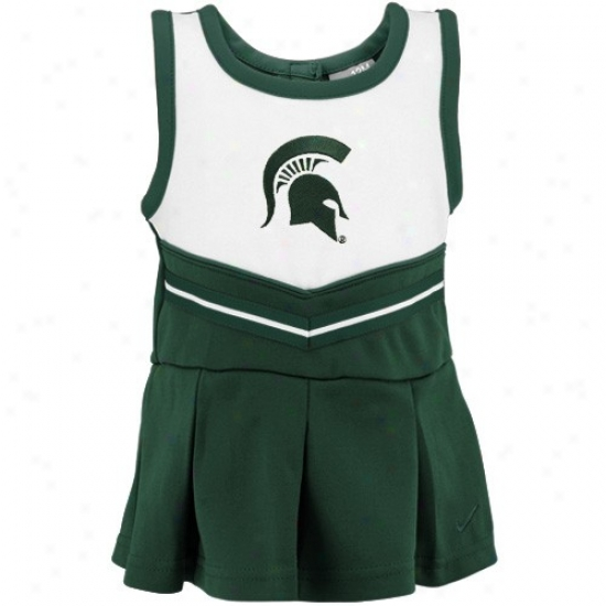 Nike Michigan State Spartans Preschool Green Cheer Dress & Bloomers