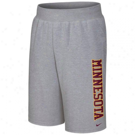 Nike Minnesota Golden Gophers Ash Collsgiate Fleece Shorts