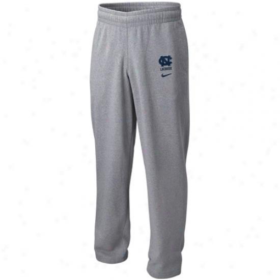 Nike North Carolina Tar Heels (unc) Ash Lacrosse Fleece Pants
