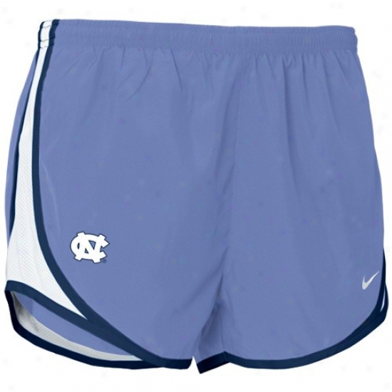 Nike North Carolina Tar Heels (unc) Light Blue Ladies Tempo Shorts