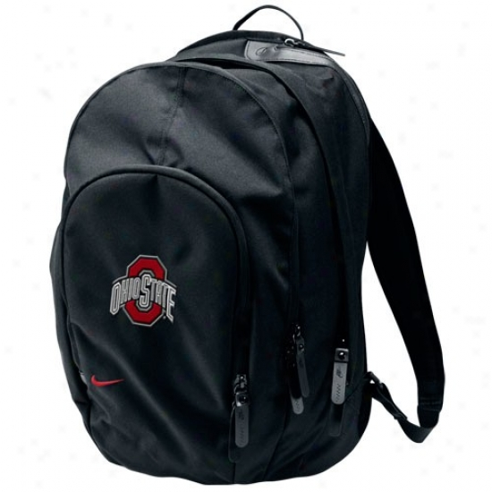 Nike Ohio State Buckeyes Core Black Backpack