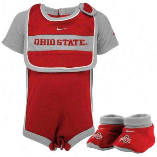 Nike Ohio State Buckeyes Infant Scarlet Three Piece Gift Set