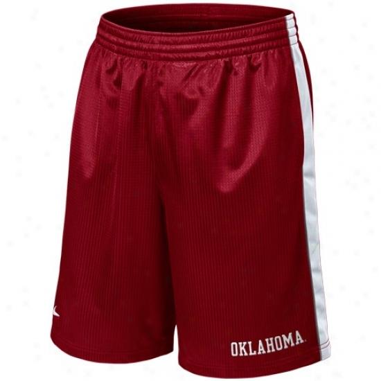 Nike Oklahoma Sooners Crimson Layup Basketball Shorts