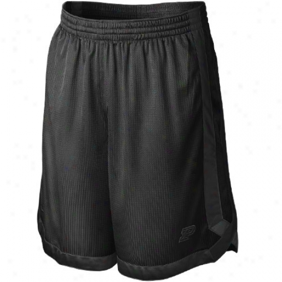 Nile Purdue Boilermakers Black D-up Mesh Shorts