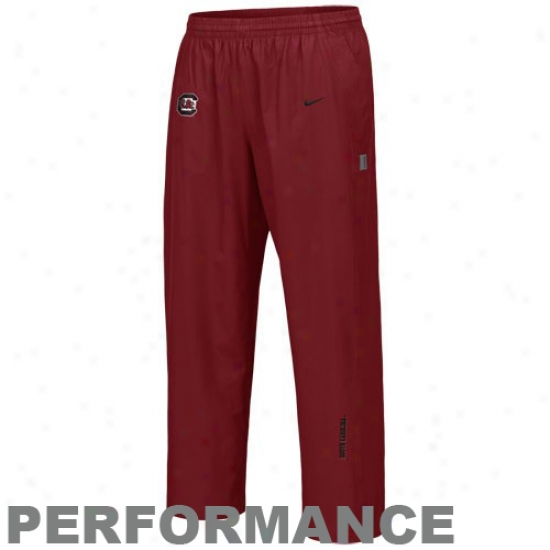 Nike South Carolina Gamecocks Garnet Hash Mark Clima-fit Training Pants