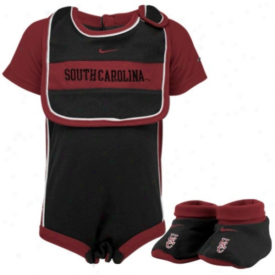 Nike South Caro1inaG amedocks Infant Black Three Piece Gift Set