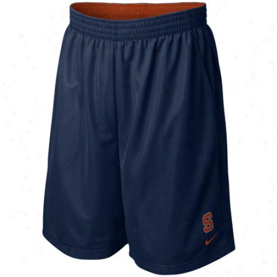 Nike Syracuse Navy Blue Classic Logo Ensnare Shorts