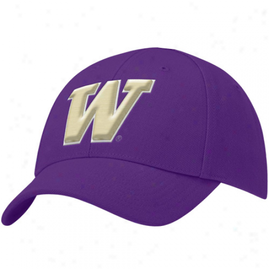 Nikw Washington Huskies Preschool Purple Swoosh Flex Fit Hat
