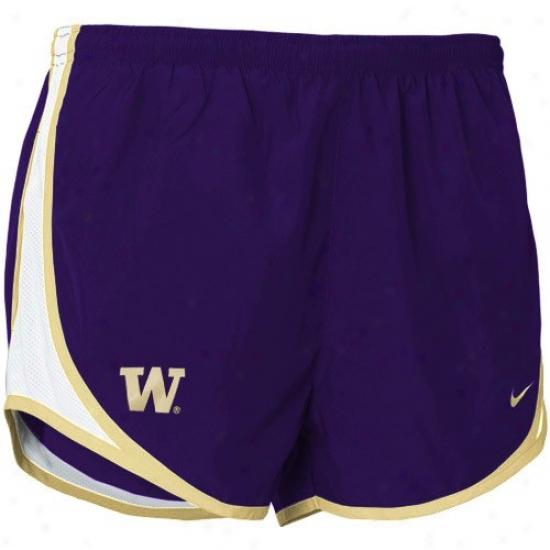 Nike Washington Huskies Purple Ladies Tempo Shorrts