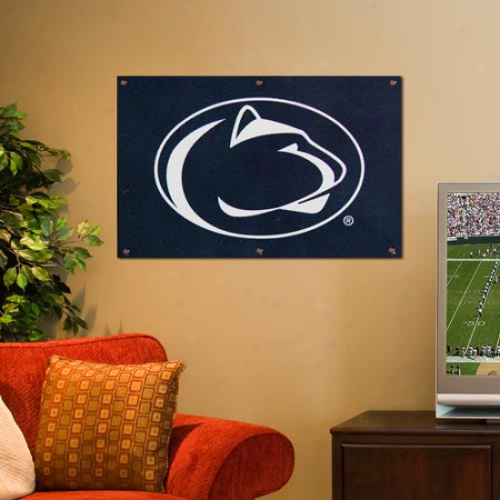 Nittany Lion Flags : Nittany Lion 2' X 3' Navy Blue Applique Logo Fan Flags