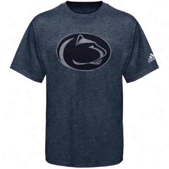 Nittany Lion Shirt : Adidas Nittany Lion Navy Blue Vintage Mascot Premium Tri-blend Shir5