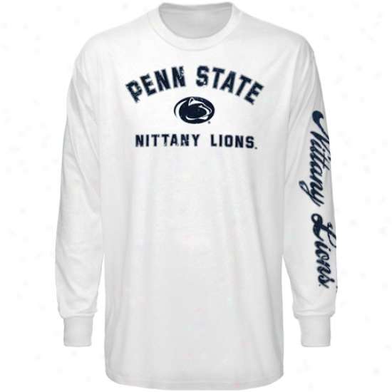 Nittany Lion T Shirt : Nittany Lion Youth White Go Long Sleeve T Shirt