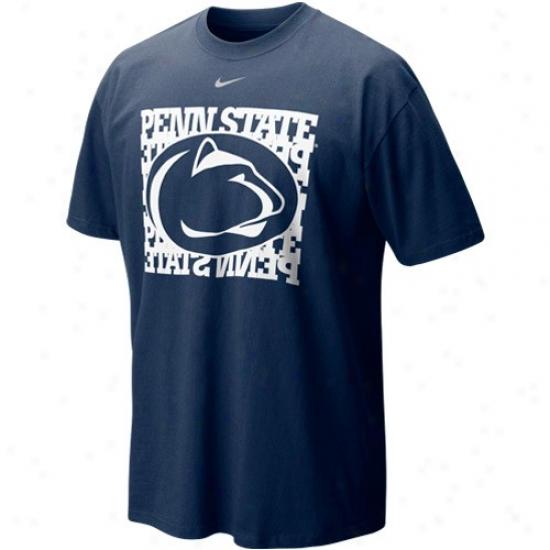 Nittany Lion Tshirt : Nike Nittany Lion Navy Blue Undercover Logo Tshirt