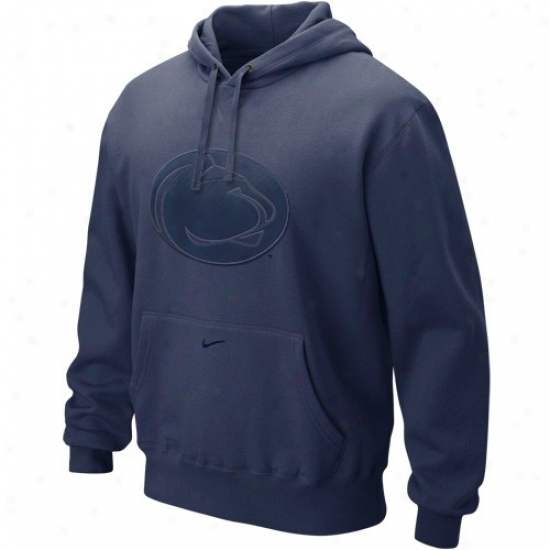 Nittany Lions Hoodie : Nike Nittany Lions Ships Blue Seasonal Tackle Twill Logo Hoodie