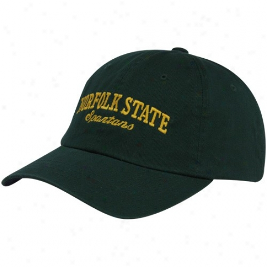 Norfolk State Spartans Hat : Top Of The World Norfolk State Spartans  Green Batters Up Adjustable Hat
