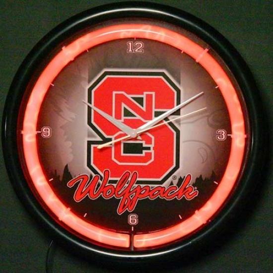 North Carolina State Wolfpack Plasma Wall Clock