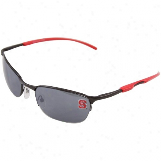 North Carolina State Wolfpack Red Metal Sunglasses