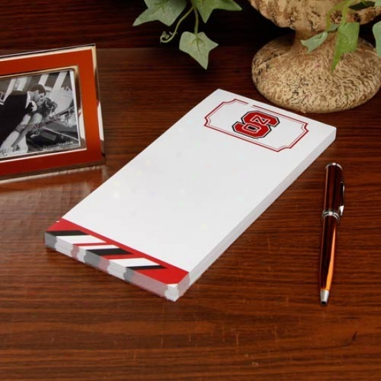 North Carolina State Wolfpack Striped Notepad