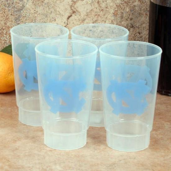 Northerly Carolina Tar Heelx (unc) 4-pack 16oz. Plastic Cups