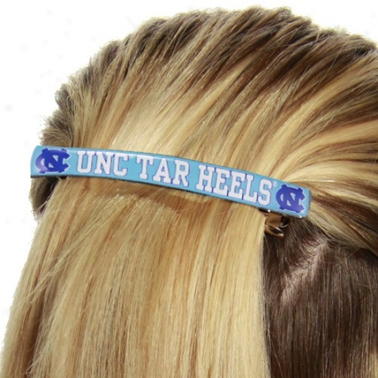 North Carolina Tar Heels (unc) Ladies Carolina lBue Team Logo Jumbo Barrette