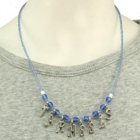 Northerly Caeolina Tar Heels (unc) Ladies Chant Necklace