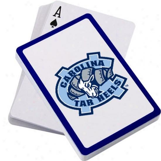 North Carolina Tar Heels (unc) Logo Playing Cards