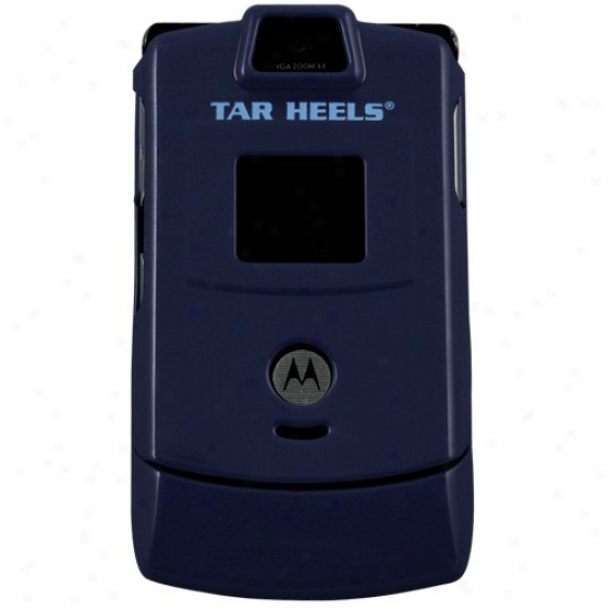 North Carolina Tar Heels (unc) Navy Blue Razor Protective Cell Phone Cover