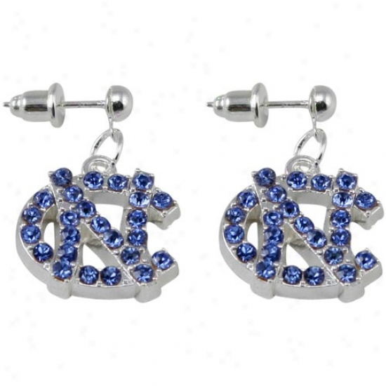 Northerly Carolina Sailor Heels (unc) Rhinestone Logo Dangle Earrings