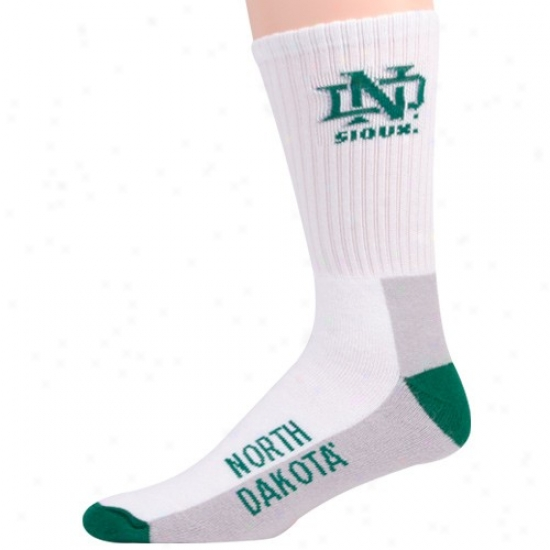 North Dakota Fighting Sioux Tri-color Team Logo Tall Socks