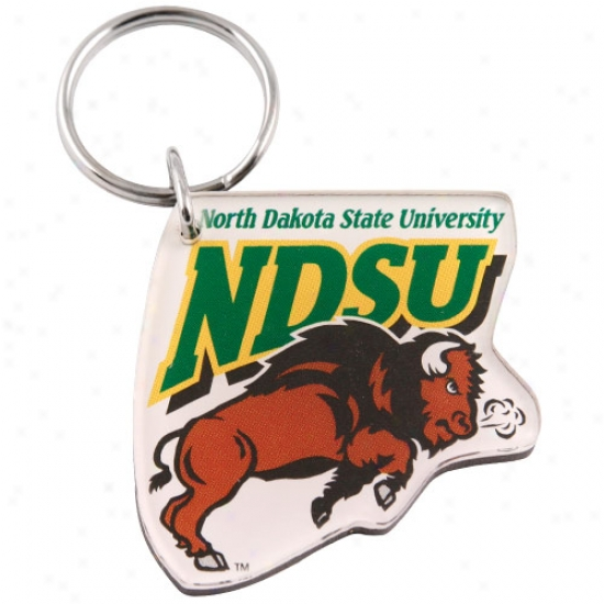 North Dakota State Bison High Definition Keychain