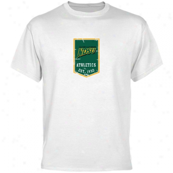 North Dakota State Bison Shirts:  North Dakota State Bison White Banner Shirts