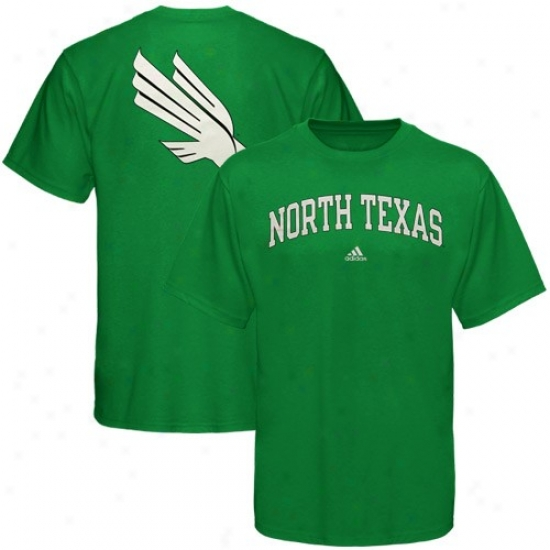 North Texas Mean Green Tees : Adidw North Texas Mean Green Green Relentless Tees