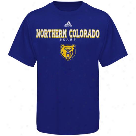 Northern Colorado Bearz Tees : Adidas Northern Colorado Bears Royal Blue True Basic Tees