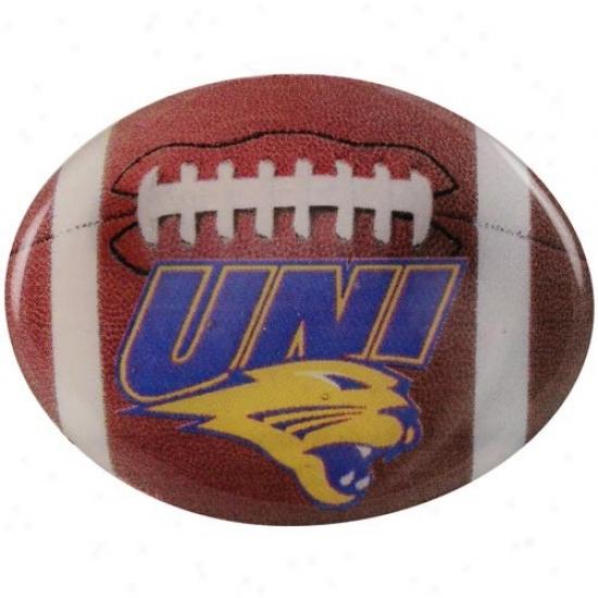 Northern Iowa Panthers Hat : Northern Iowa Panthers Coupled Back Football Pin