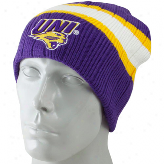Northern Iowa Panthers Hats : North Iowa Panthers Purple Stinger Beanie