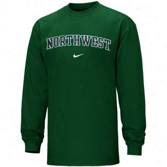 Northwest Missouri State Bearcats Tshirt : Nike Northwest Missouri State Bearcats Green Vertical Arhc Long Sleeve Tshirt