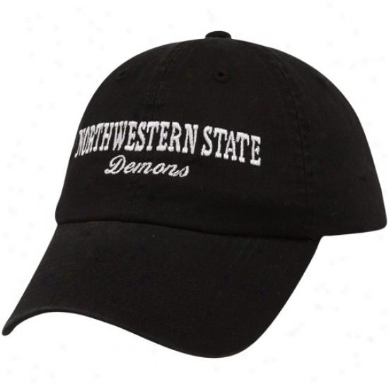 Northwestern Rank Demons Hats : Top Of The World Northwestern State Drmons Black Batters Up Adjustable Hats