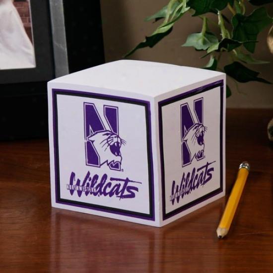 Northwestern Wildcats Ncaa Cube Notepad