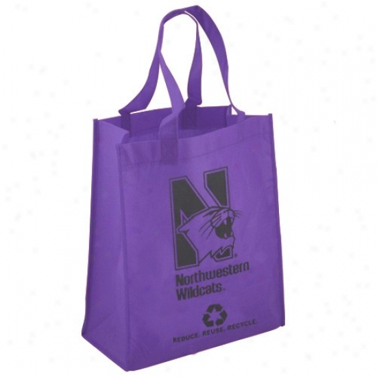 Northwestern Wildcats Purple Reusable Carry Sack