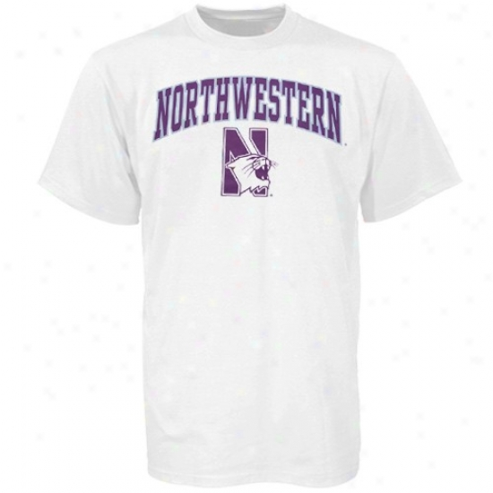 Northwestern Wildcats T Shirt : Northwestern Wildcats Youth White Bare Essentials T Shirt